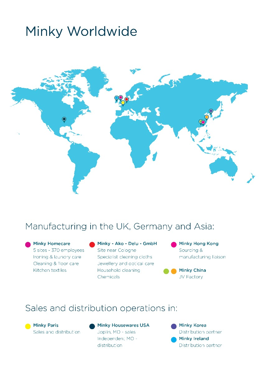 Minky Worldwide Map