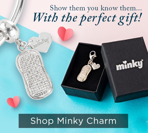 Minky Silver Dangle Charm Gift