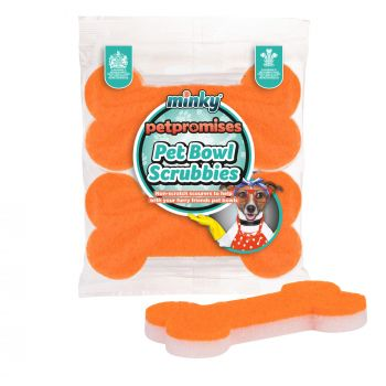 Pet Bowl Scrubbies - 2pk Bone