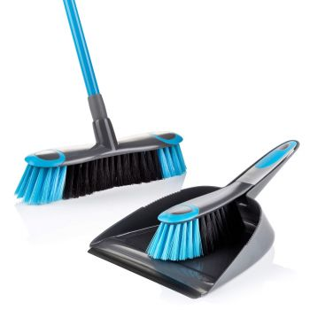 Smart Sweep Broom with Dustpan & Brush