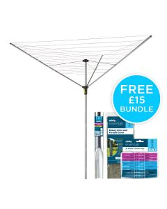 40m 3 Arm Easy Breeze Rotary Airer Bundle