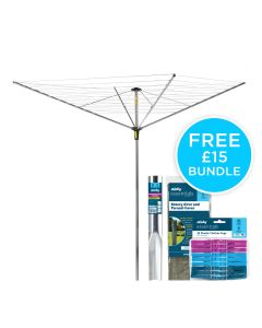 45m 4 Arm Easy Breeze Rotary Airer Bundle