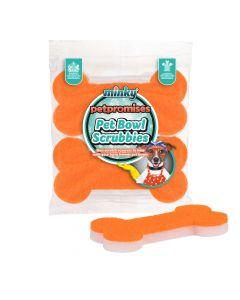 Pet Bowl Scrubbies - 2pk Bone