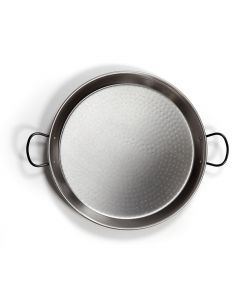 Polished Steel Paella Pan - 46cm Diameter