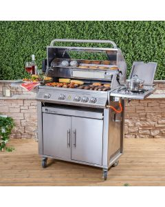 Premier Stainless Steel 4 Burner Gas Barbecue