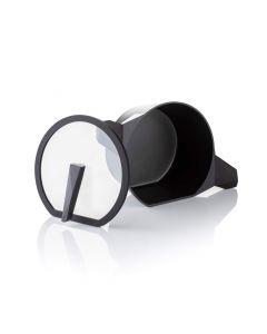 20cm Qtecut Non Stick Cast Aluminium Casserole with Glass Lid