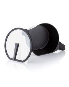24cm Qtecut Non Stick Cast Aluminium Casserole with Glass Lid