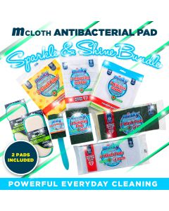 M Cloth Anti-Bacterial Pad Sparkle & Shine Cleaning Bundle