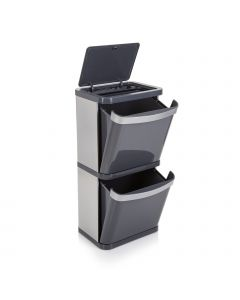 Sort2 60 Litre Recycling Bin - Grey