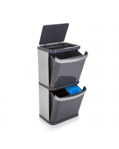 Sort3 60 Litre Recycling Bin - Grey