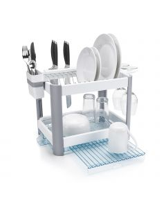 Twin Tier Extending Dish Rack