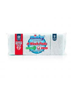 Anti-bacterial & Anti-grease Non Scratch Wash Pads 4PK