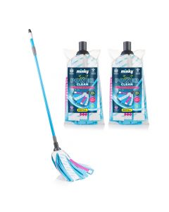 3 in 1 Power Clean Strip Mop with 2 Extra Refills