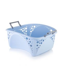 Minky 40L Stackable Laundry Basket Blue