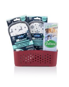 Minky & Zoflora Winter Storage Basket Set - Red Berry