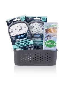 Minky & Zoflora Winter Storage Basket Set Web Exclusive - Grey
