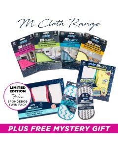 M Cloth Range Bundle - Includes FREE SpongeBob Twin Pack