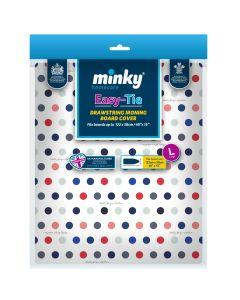 Minky Drawstring Cotton Ironing Board Cover - 122cm x 38cm