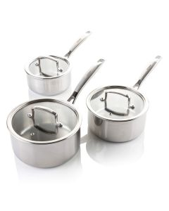 3 Piece Tri Ply Stainless Steel Pan Set