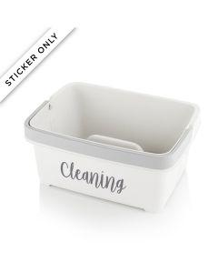 Storage Caddy – Cleaning Personalisation Sticker – Grey
