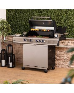 Fire Mountain Premier Plus 4 Burner Gas Barbecue with Protective Cover