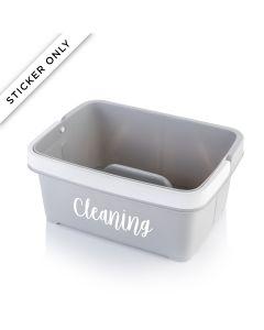 Storage Caddy – Cleaning Personalisation Sticker – White