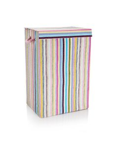 Fabric Laundry Basket in Candy Stripe
